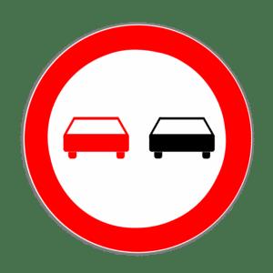 Das Verkehrszeichen 276 weist ein allgemeines Überholverbot aus.