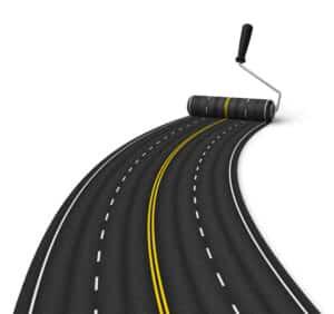 Eine Autobahn in Deutschland besteht aus mindestens zwei Spuren in jede Fahrtrichtung.