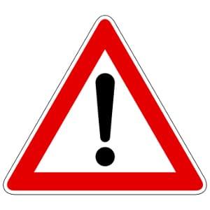 Gefahrenzeichen helfen, Unfälle zu vermeiden.