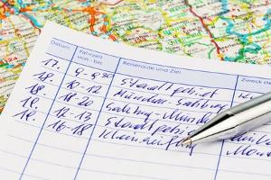 Nicht alle Daten im gekauften Fahrtenbuch sind Pflichtangaben.