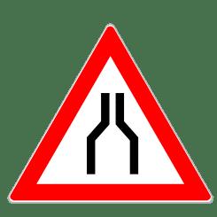 Verengte Fahrbahn