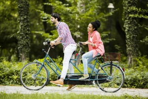Keine Bußgelder: Auf dem Fahrrad gibt es keine Helmpflicht.