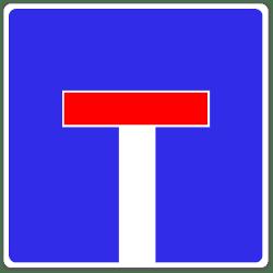 Dieses Verkehrszeichen (VZ) kündigt eine Sackgasse an.
